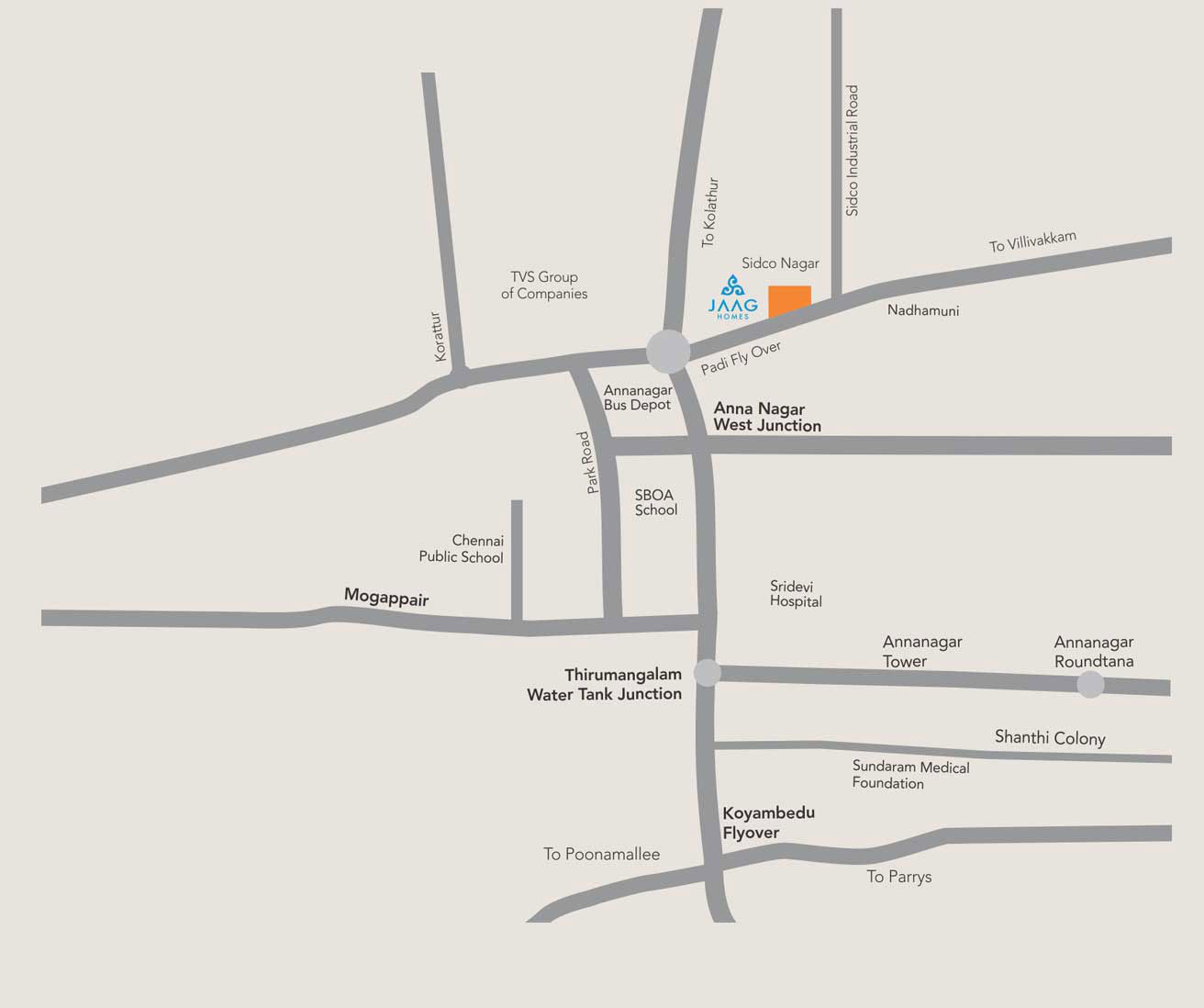 Achyutha Square map